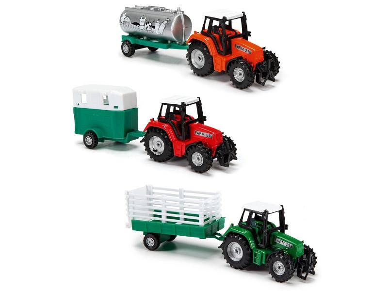 Игрушка Dickie Toys Трактор с прицепом 3733001 dickie toys игрушка городской поезд
