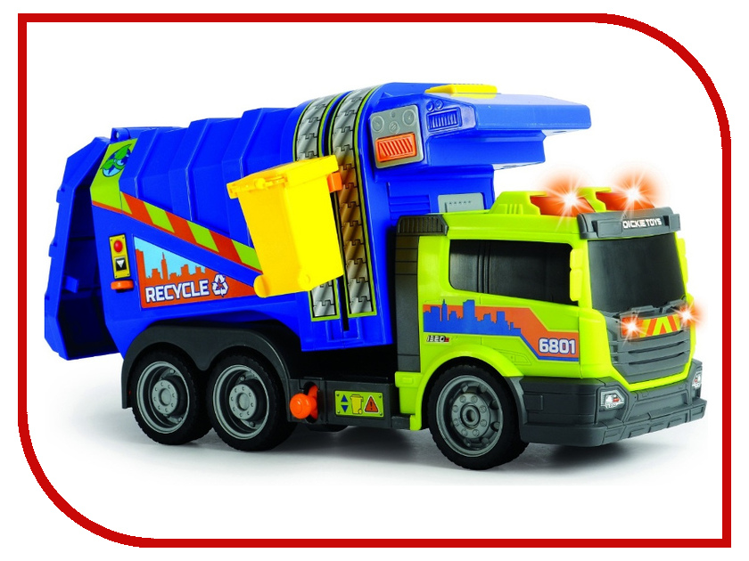 Игрушка Dickie Toys Мусоровоз 3308379 dickie toys мусоровоз heavy city truck