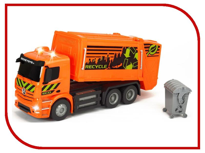 Игрушка Dickie Toys Мусоровоз Mercedes-Benz Antos 19084 dickie toys мусоровоз heavy city truck
