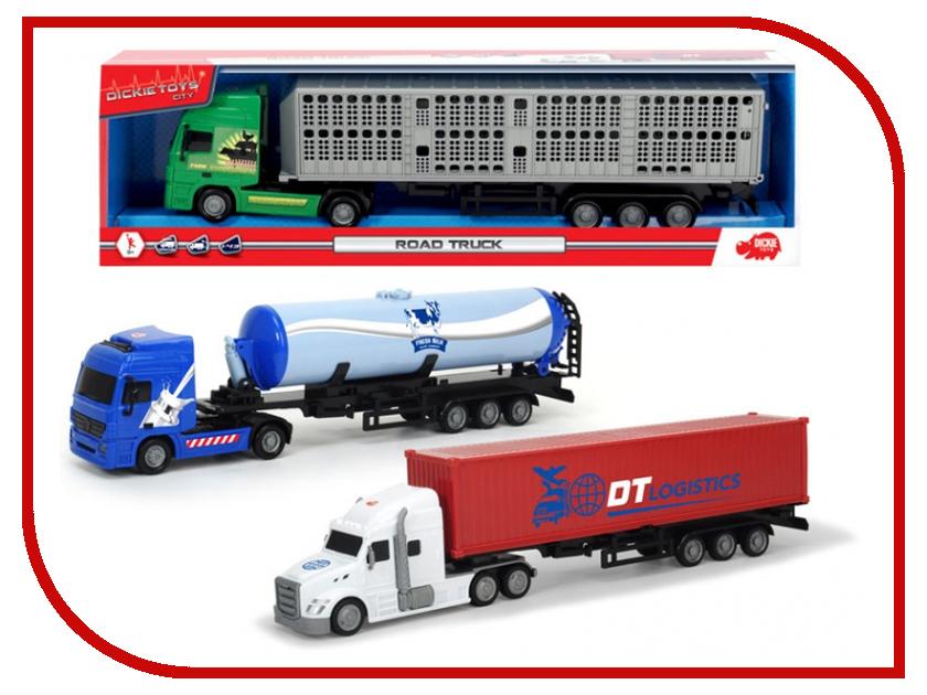 Игрушка Dickie Toys Трейлер с прицепом 3747001 игрушка dickie toys городской поезд 3748002