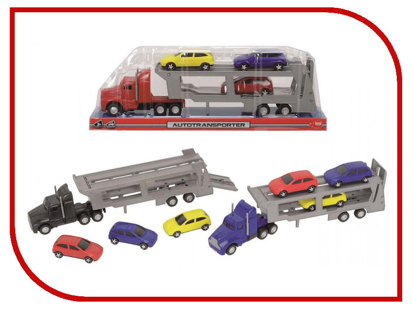 Игрушка Dickie Toys Трейлер с 3 машинками 3746000 dickie toys dickie toys игровой набор трейлер дом на колесах