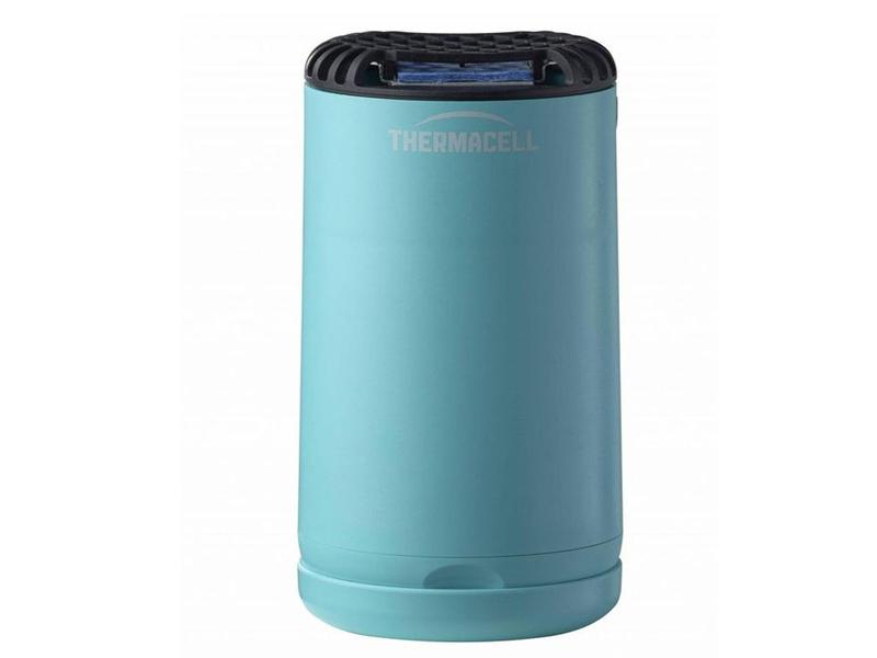 Средство защиты от комаров ThermaCELL Halo Mini Repeller Blue (прибор + 1 газовый картридж + 3 пластины) MR-PSB лампа противомоскитная thermacell halo mini repeller green цвет зеленый в комплекте лампа 1 газовый картридж 3 пластины