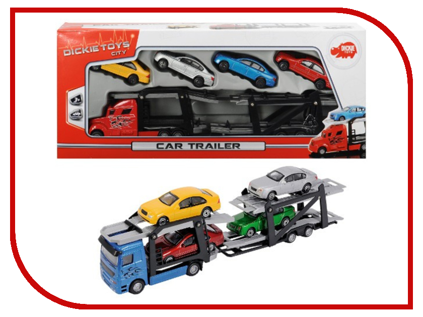 Игрушка Dickie Toys Набор машинок 3745000 игровые наборы dickie набор машинок с трассой пазлами