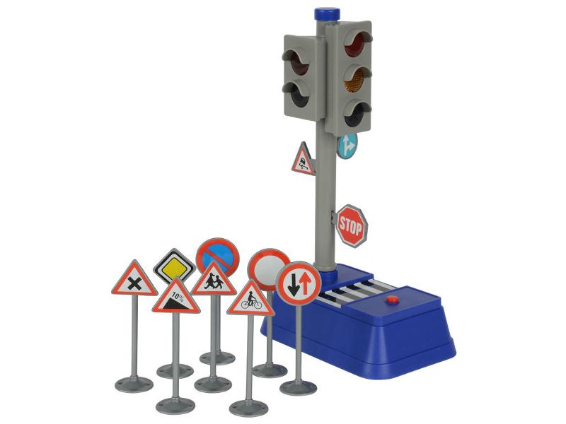 Игрушка Игровой набор Dickie Toys Светофор + набор дорожных знаков 3741001