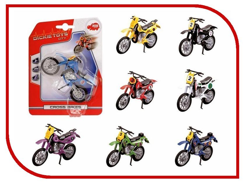Игрушка Dickie Toys Кроссовый мотоцикл 3341004 dickie toys водный мотоцикл sea jet цвет голубой салатовый