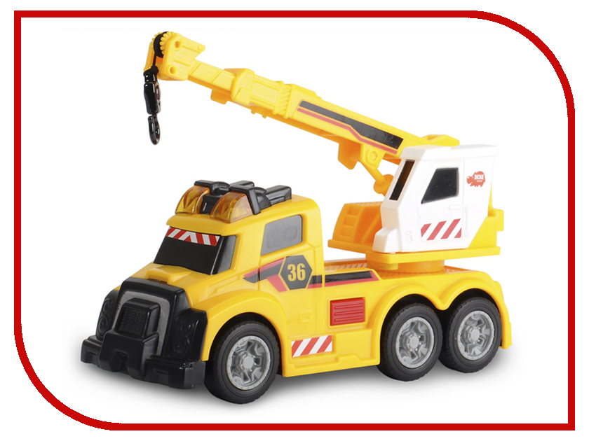 Игрушка Dickie Toys Автокран 3302006 игрушка dickie toys городской поезд 3748002