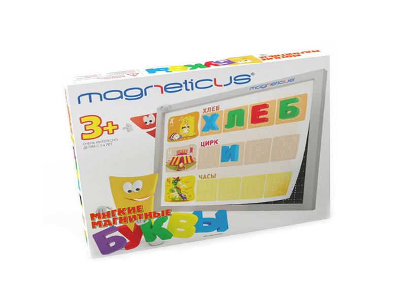 цена на Настольная игра Magneticus Мягкая магнитная азбука Буквы и Звуки OBU-004