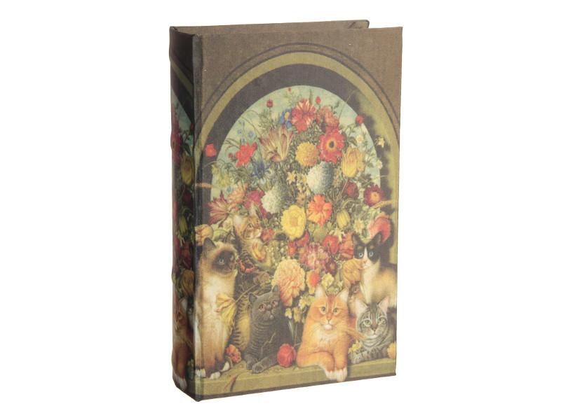 Сейф книга СИМА-ЛЕНД Кошки у пышного букета 21x13x5cm 2682212
