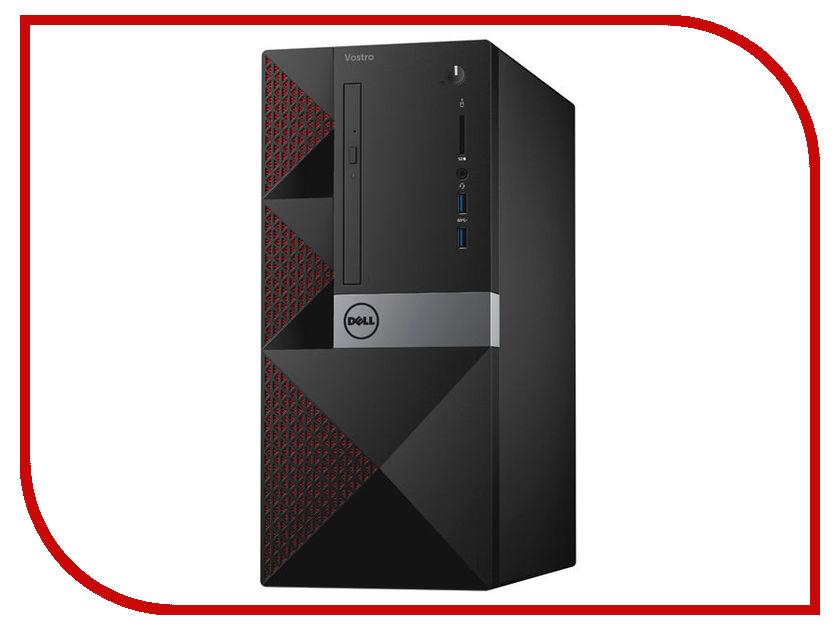 Настольный компьютер Dell Vostro 3668 MT Black 3668-0276 (Intel Pentium G4560 3.5 GHz/4096Mb/1000Gb/DVD-RW/Intel HD Graphics 610/Gigabit Ethernet/Wi-Fi/Linux)