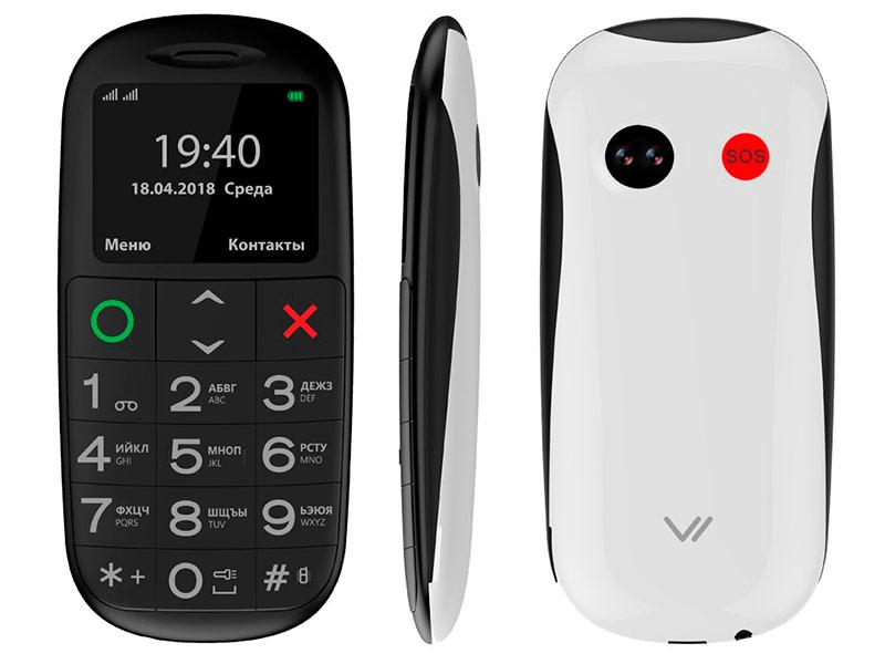 Сотовый телефон Vertex C312 Black-White сотовый телефон vertex d571 red
