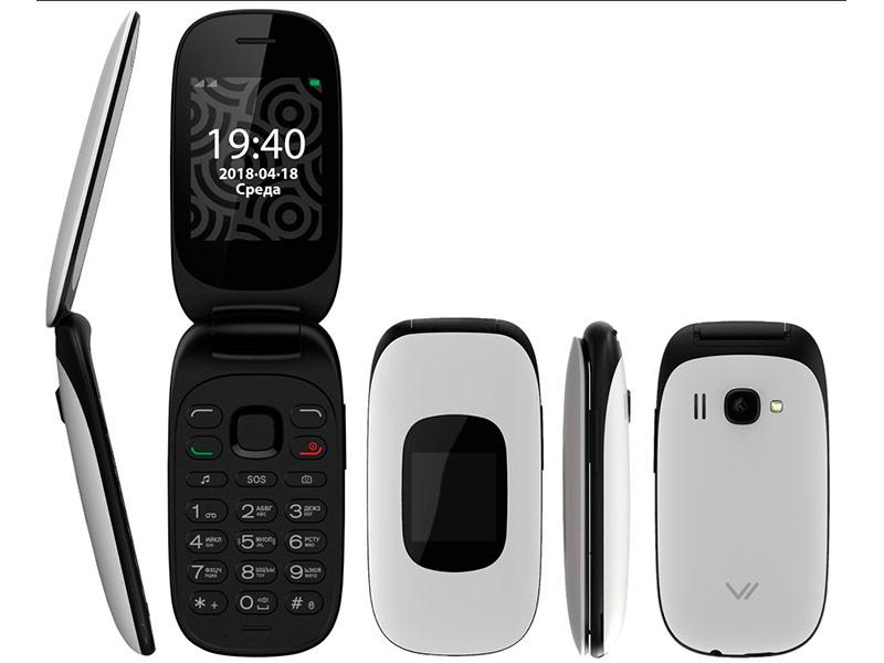 Сотовый телефон Vertex C314 Flip Black-White цена