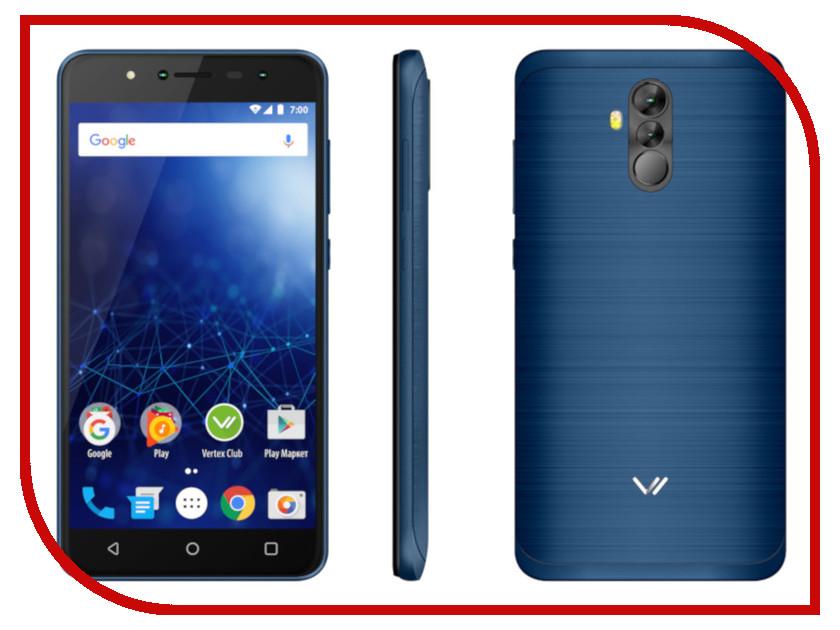 Сотовый телефон Vertex Impress New LTE Blue сотовый телефон vertex impress sun lte black