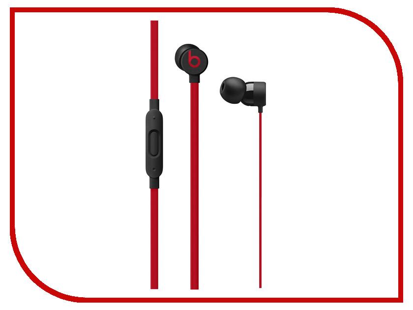 Beats urBeats3 Earphones 3.5mm Plug Defiant Black-Red MRTU2ZE/A радиоуправляемый квадрокоптер wl toys v393fpv brushless fpv 5 8g