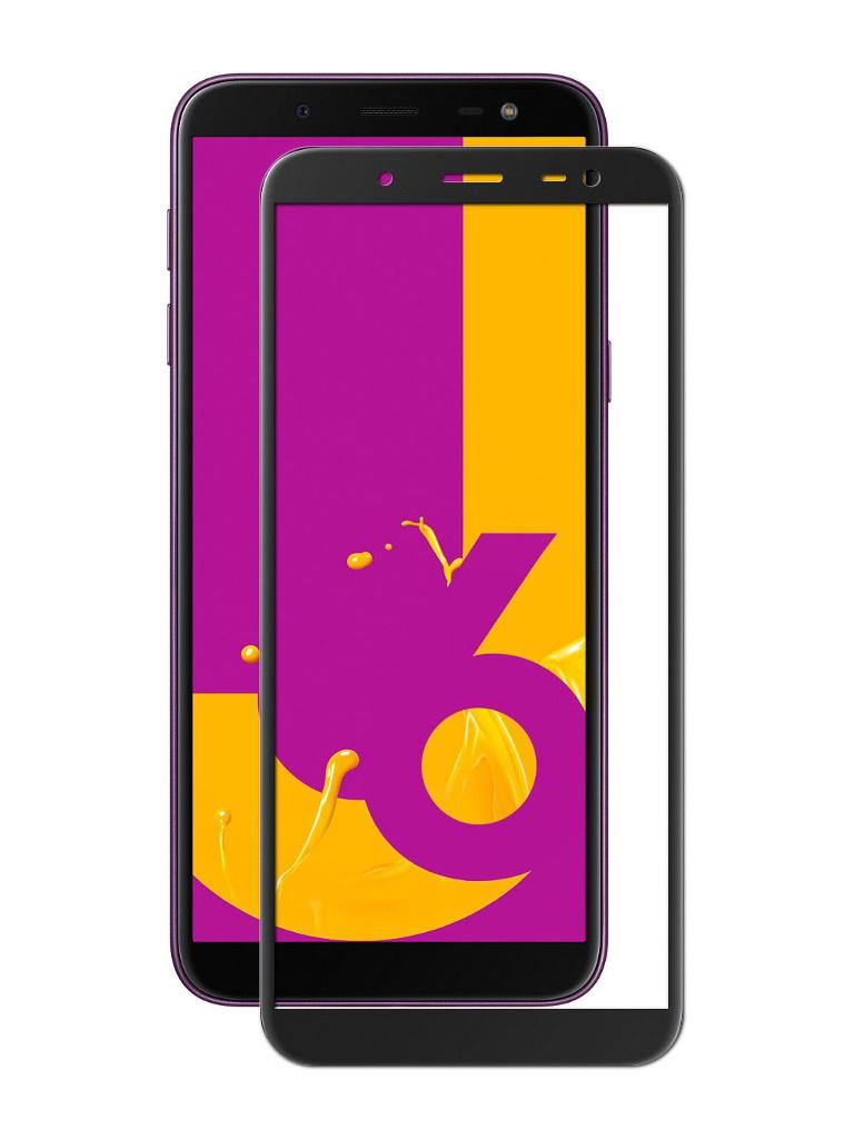 Противоударное стекло Innovation 2D для Samsung Galaxy J6 2018 Black 12127