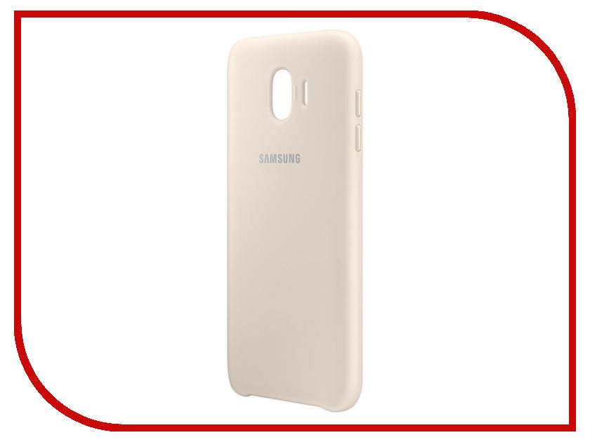 Аксессуар Чехол-накладка Samsung Galaxy J4 2018 Dual Layer Cover Gold EF-PJ400CFEGRU аксессуар чехол накладка samsung galaxy j2 2018 jelly cover pink ef aj250tpegru