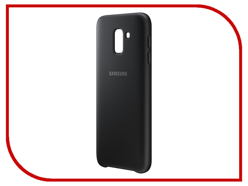 Аксессуар Чехол-накладка Samsung Galaxy J6 2018 Dual Layer Cover Black EF-PJ600CBEGRU чехол для samsung galaxy j6 2018 samsung dual layer cover ef pj600cbegru black