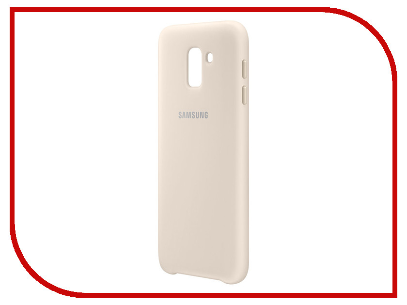 Аксессуар Чехол-накладка для Samsung Galaxy J6 2018 Dual Layer Cover Gold EF-PJ600CFEGRU чехол для samsung galaxy j6 2018 samsung dual layer cover ef pj600cbegru black