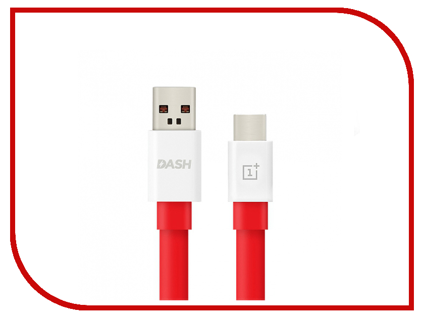 Аксессуар OnePlus Dash Charge USB - Type-C 1.0m Red 0202003201 аксессуар ainy fa 138c usb type c quick charge 3 0 1 5m red