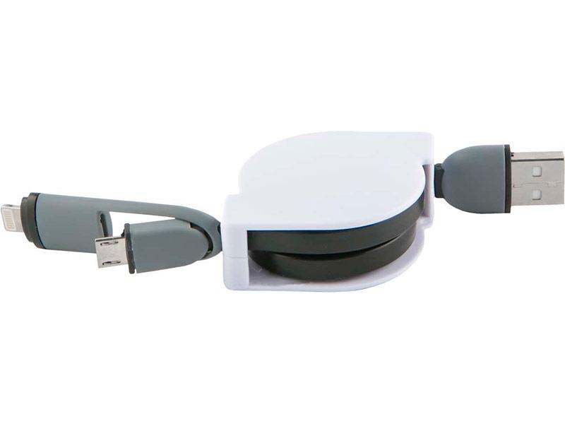 Аксессуар Red Line 2в1 USB - MicroUSB/Lightning УТ000014342
