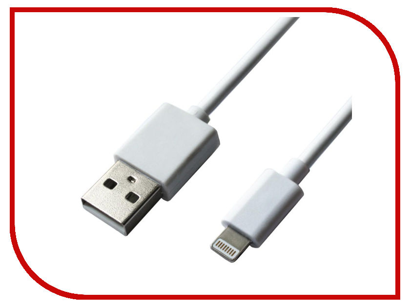 Аксессуар Red Line Spiral USB - Lightning White УТ000015708 аксессуар red line magnetic usb lightning 8 pin silver ут000012860