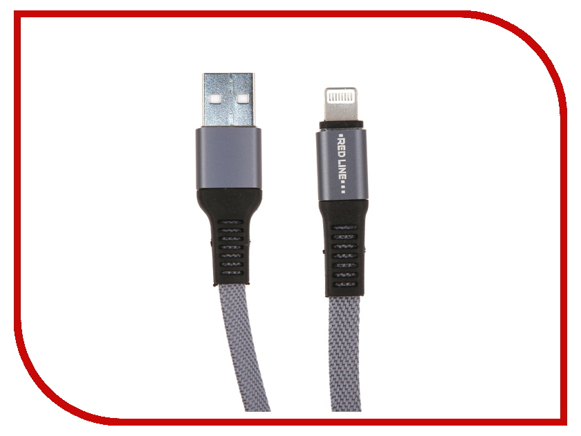 Аксессуар Red Line Flat USB - Lightning Grey УТ000015529 аксессуар byz bc 001 usb lightning grey