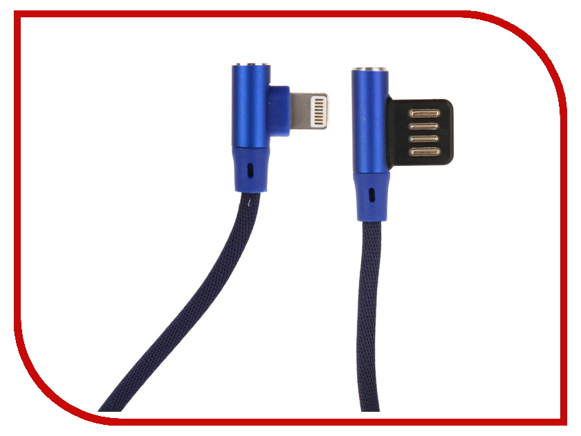 Аксессуар Red Line Fit USB - Lightning Blue УТ000015525 аксессуар red line magnetic usb lightning 8 pin silver ут000012860