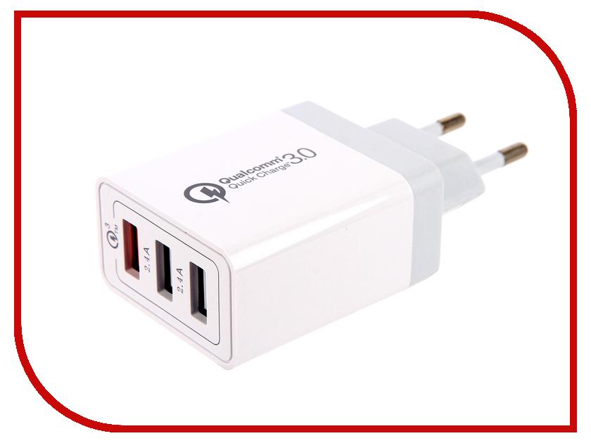 цена на Зарядное устройство Red Line NQC-3A Tech 3xUSB QC 3.0 White УТ000015723