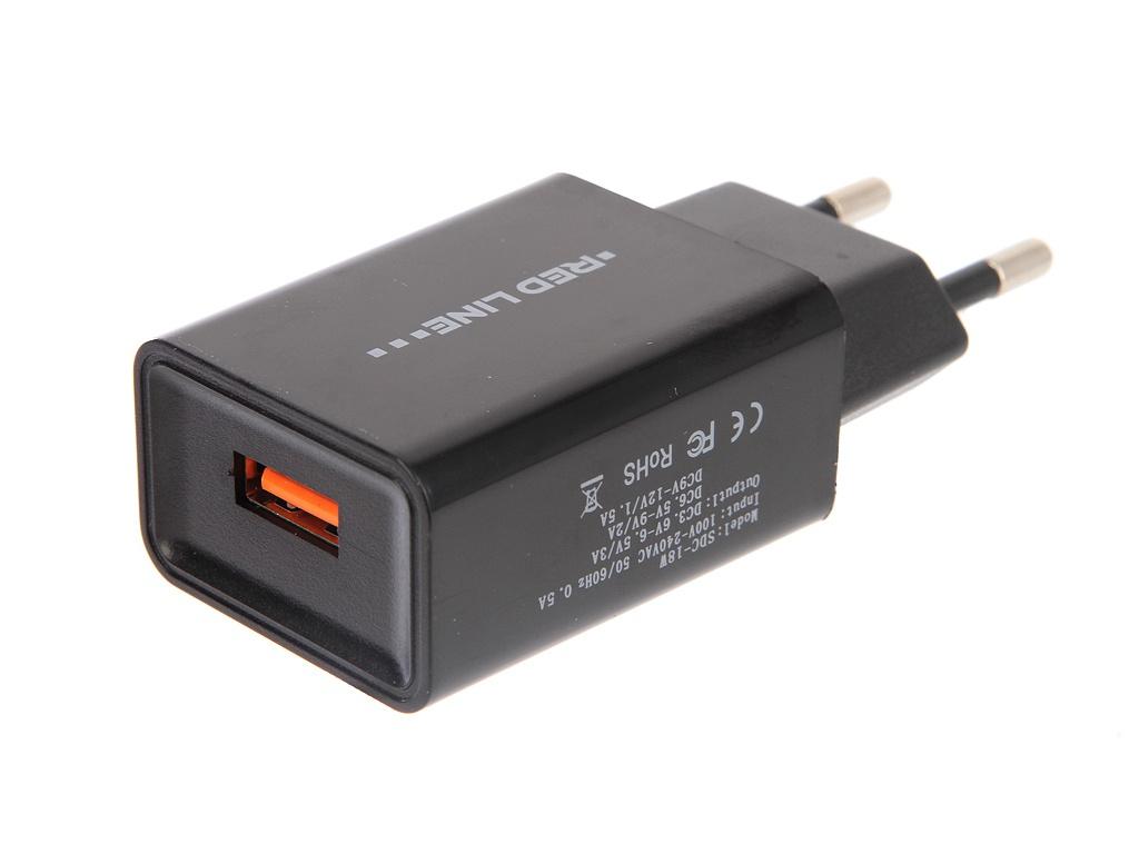 Зарядное устройство Red Line NQC1-3A Tech USB QC 3.0 Black УТ000015768