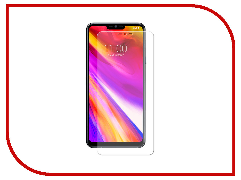 Аксессуар Гибридная защитная пленка для LG G7 Red Line УТ000015932 аксессуар защитная пленка nokia 7 plus red line гибридная