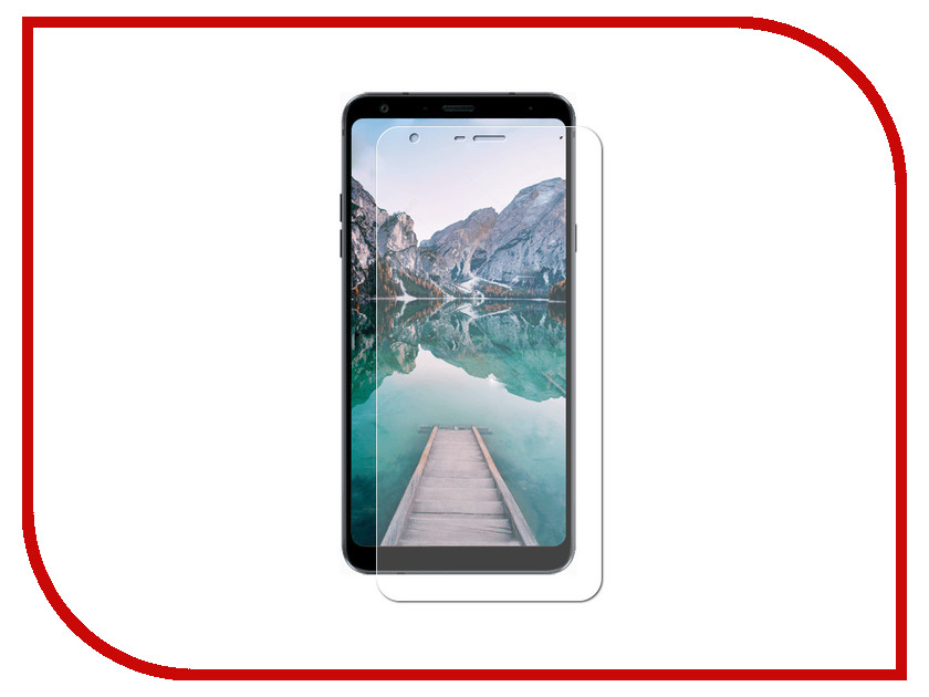 Аксессуар Гибридная защитная пленка для LG Q7 Red Line УТ000015934 аксессуар защитная пленка htc desire 820 red line