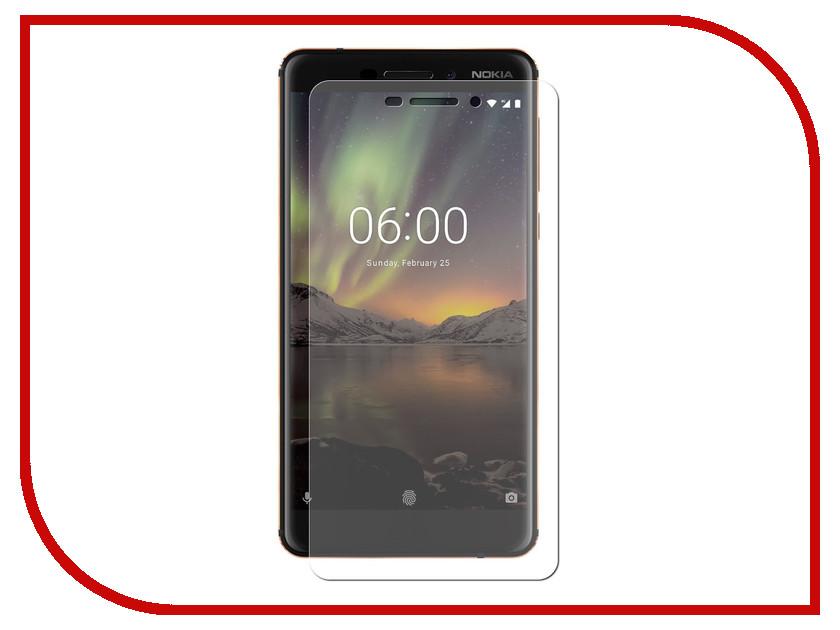 Аксессуар Гибридная защитная пленка для Nokia 6.1 2018 Red Line УТ000015929 аксессуар защитная пленка nokia 7 plus red line гибридная