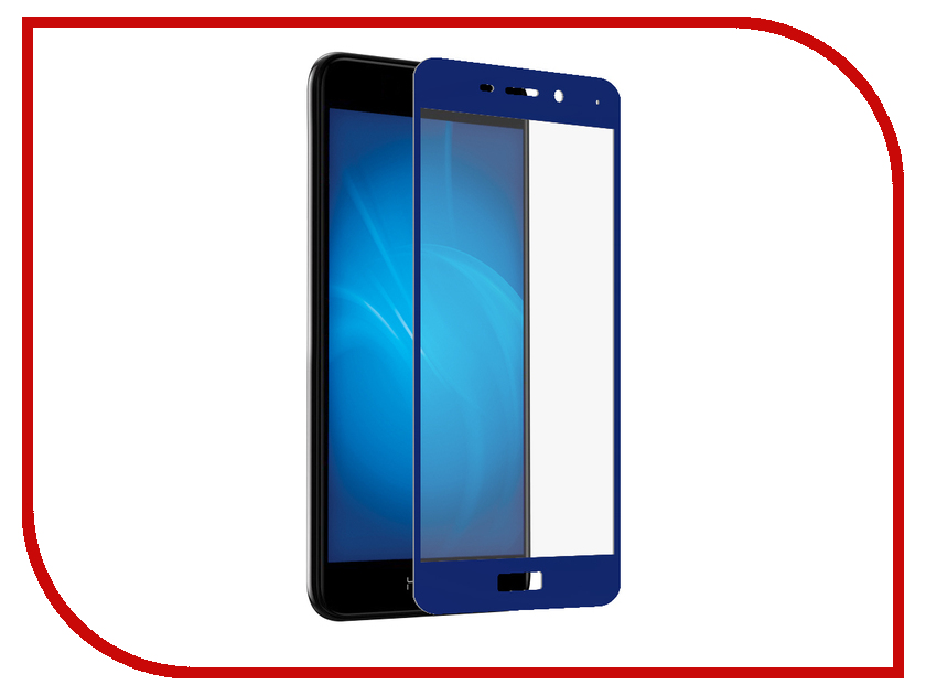 Аксессуар Защитный экран для Huawei Honor 6C Pro Red Line Full Screen Tempered Glass Blue УТ000014376 new case for huawei honor x2 mediapad gem 703l lcd display touch screen digitizer glass sensor assembly free shipping