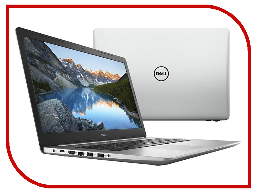 Ноутбук Dell Inspiron 5770 Silver 5770-9706 (Intel Core i7-8550U 1.8 GHz/8192Mb/1000Gb + 128Gb SSD/DVD-RW/AMD Radeon 530 4096Mb/Wi-Fi/Bluetooth/Cam/17.3/1920x1080/Windows 10 64-bit)