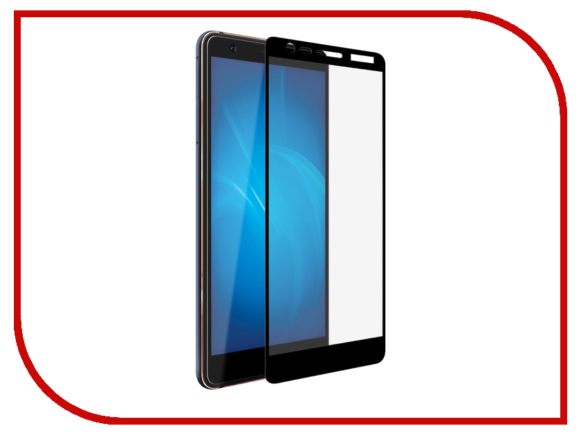 Аксессуар Защитный экран для Nokia 3 2018 Red Line Full Screen Tempered Glass Black УТ000014519 zhiyusun 68015e 020 touch screen sensor glass 164 127 6 5 inch industrial use 8line 164mm 127mm