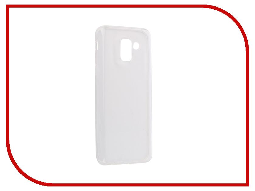 Аксессуар Чехол силиконовый Crystal для Samsung Galaxy J6 2018 iBox УТ000015602 аксессуар чехол microsoft lumia 550 ibox crystal transparent