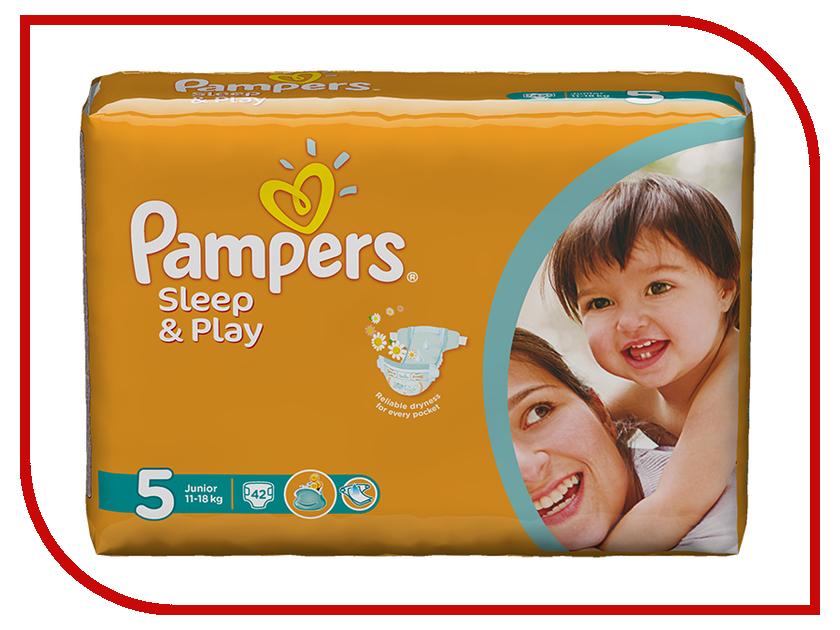 Подгузники Pampers Sleep & Play Junior 11-18кг 42шт 8001090784674 pampers pampers sleep