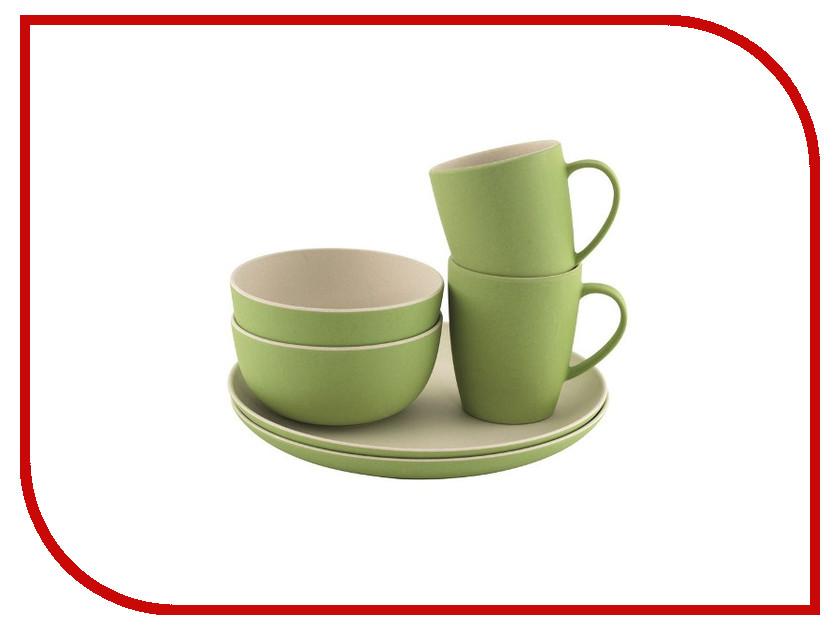 Набор посуды Outwell Bamboo Dinner Set 2 Persons Primrose Green 650521