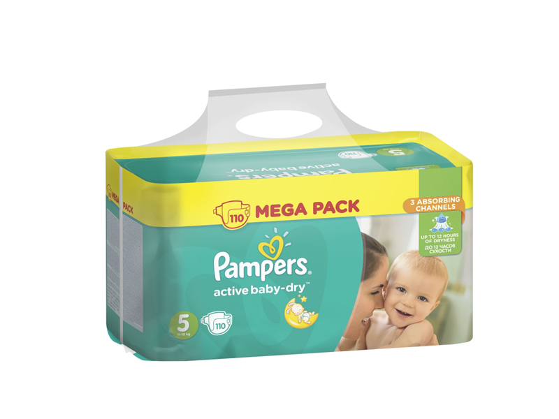 Подгузники Pampers Active Baby-Dry Junior 11-18кг 110шт 8001090459541