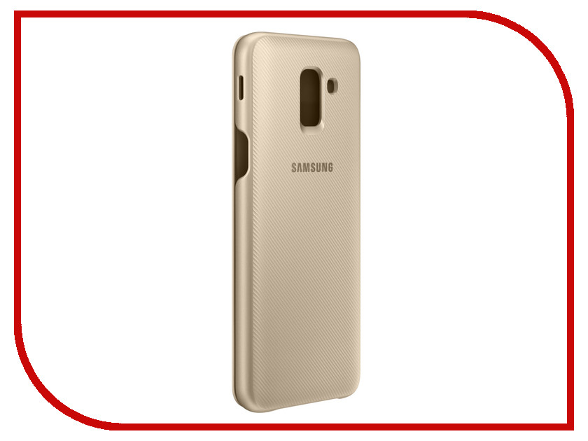 Аксессуар Чехол Samsung Galaxy J6 2018 Wallet Cover Gold SAM-EF-WJ600CFEGRU аксессуар чехол книжка samsung galaxy a6 plus 2018 wallet cover gold ef wa605cfegru