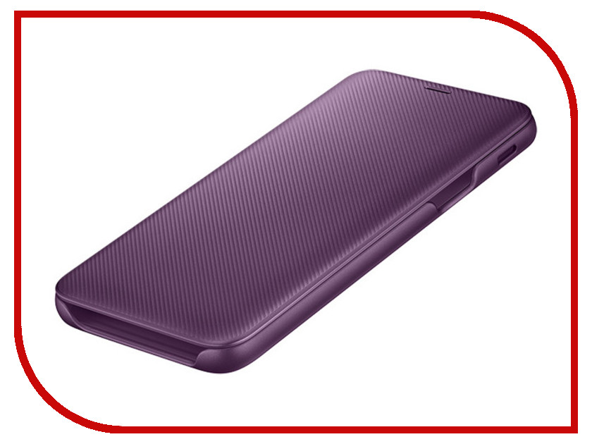 Аксессуар Чехол Samsung Galaxy J6 2018 Wallet Cover Purple SAM-EF-WJ600CEEGRU аксессуар чехол для samsung a8 2018 a530 zibelino clear view blue zcv sam a530 blu