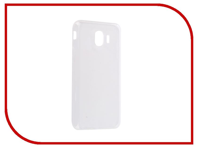 Аксессуар Чехол для Samsung Galaxy J4 2018 J400F Svekla Silicone Transparent SV-SGJ400F-WH аксессуар чехол lg k8 2017 gecko transparent glossy white s g lgk8 2017 wh