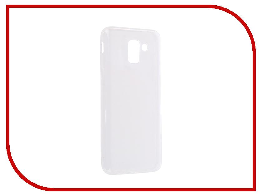 Аксессуар Чехол для Samsung Galaxy J6 2018 J600F Svekla Silicone Transparent SV-SGJ600F-WH аксессуар чехол lg k8 2017 gecko transparent glossy white s g lgk8 2017 wh