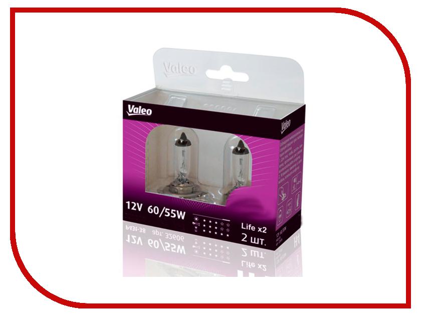 Лампа Valeo H4 12V 60/55W P43t Life x2 32606 (2 штуки)