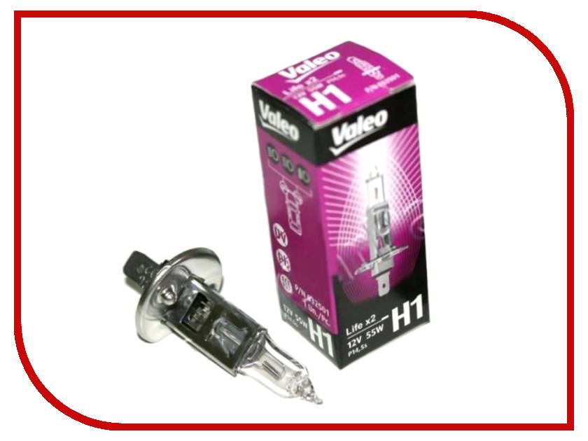Лампа Valeo H1 12V 55W P14,5s Life x2 32600 (2 штуки)