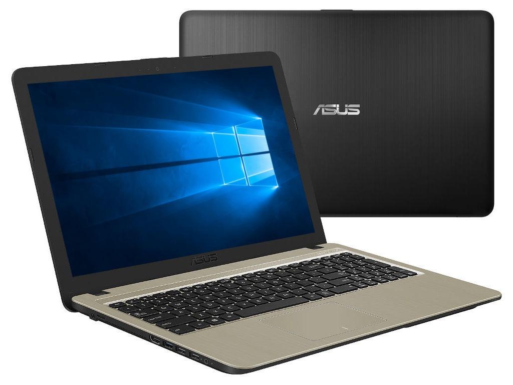 Ноутбук ASUS A540NV-DM049T Black-Golden 90NB0HM1-M00880 (Intel Pentium N4200 1.1 GHz/4096Mb/500Gb/nVidia GeForce 920MX 2048Mb/Wi-Fi/Bluetooth/Cam/15.6/1920x1080/Windows 10 64-bit) ноутбук asus x540nv gq004t 90nb0hm1 m00060