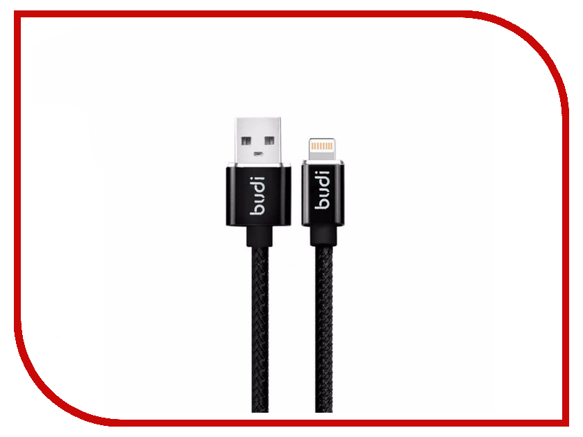 Аксессуар Budi USB - Lightning 1.0m Black M8J180