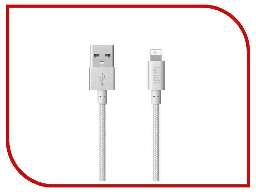Аксессуар Budi USB - Lightning 1.0m Silver M8J180