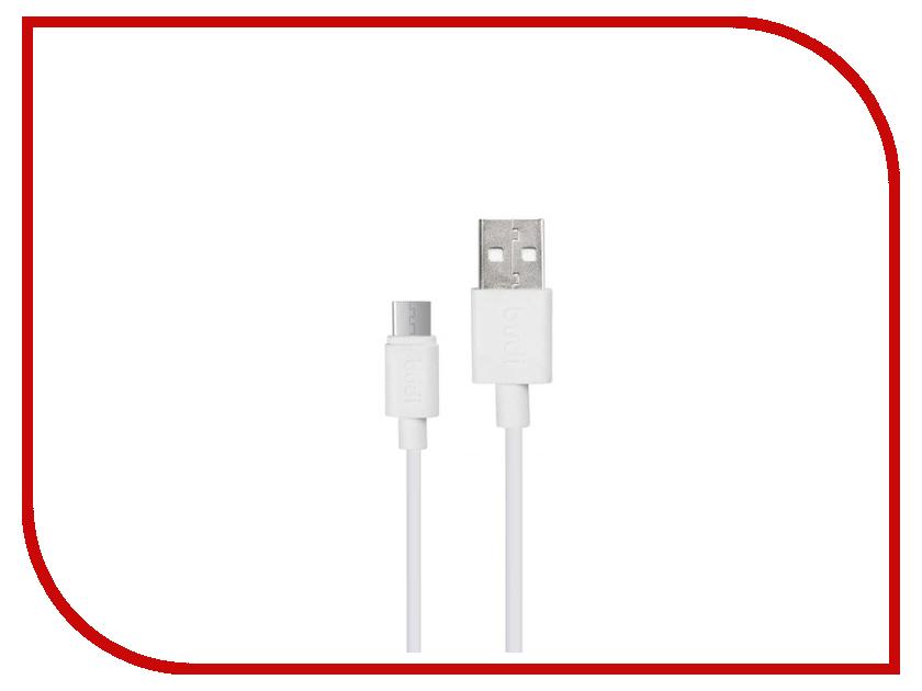 Аксессуар Budi USB - MicroUSB 1.2m White M8J150M аксессуар чехол для samsung galaxy tab a 10 1 sm t580 palmexx smartslim red px stc sam taba t580 red