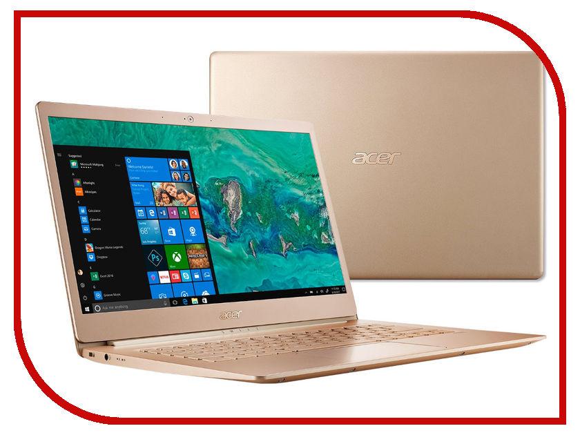 Ноутбук Acer Swift 5 SF514-52T-89RF NX.GU4ER.001 Golden (Intel Core i7-8550U 1.8 GHz/8192Mb/512Gb SSD/Intel HD Graphics/Wi-Fi/Bluetooth/Cam/14.0/1920x1080/Touchscreen/Windows 10 64-bit) nokotion nby1111001 q5wvh la 7912p laptop motherboard for acer v3 571 intel integrated ddr3 nb y1111 001 free shipping