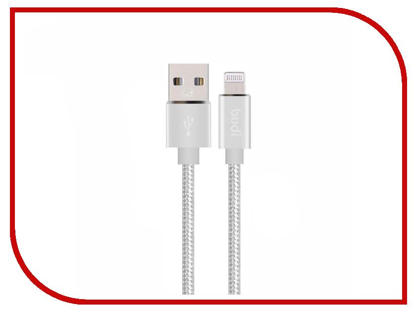 Аксессуар Budi USB - MicroUSB 1.0m Silver M8J180M цены онлайн